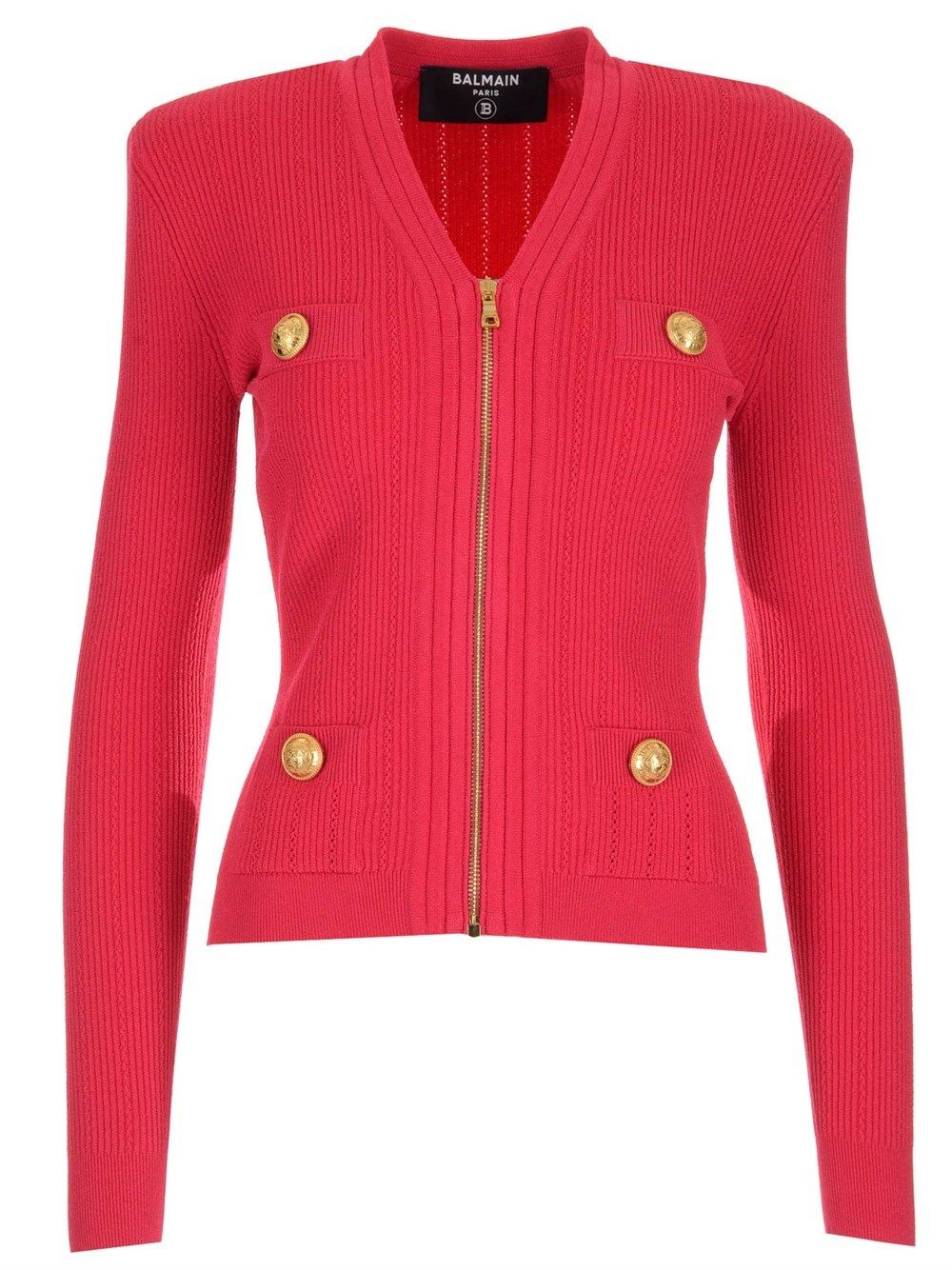 Balmain BALMAIN WOMEN'S VF0SK030K2114PK PINK OTHER MATERIALS JACKET