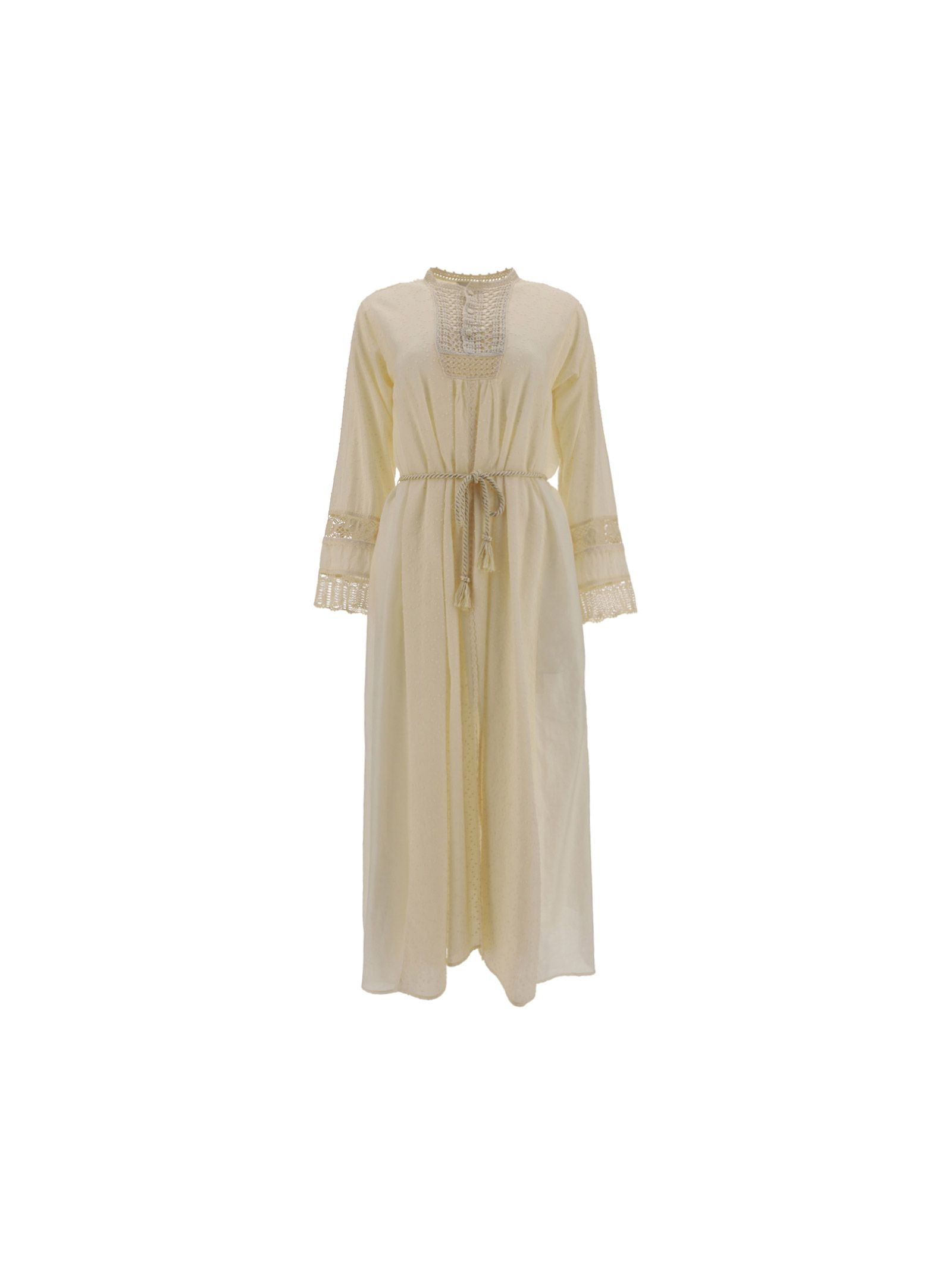Forte Forte FORTE FORTE WOMEN'S 8084MYDRESSIVORY BEIGE OTHER MATERIALS DRESS