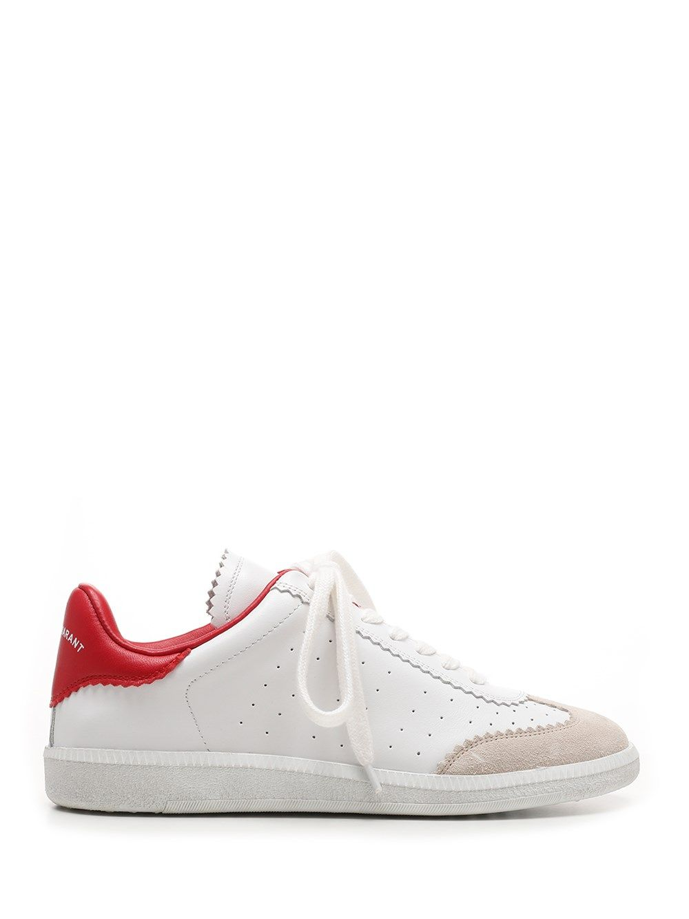 Isabel Marant Leathers ISABEL MARANT WOMEN'S BK002921P041S70RD WHITE OTHER MATERIALS SNEAKERS