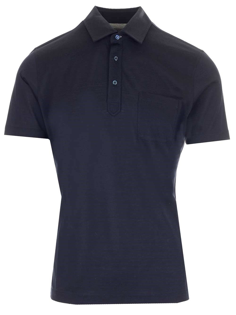 Brunello Cucinelli BRUNELLO CUCINELLI MEN'S MTS463901C575 BLUE OTHER MATERIALS POLO SHIRT