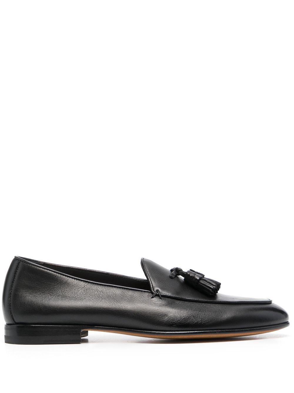 Santoni SANTONI MEN'S MCNC17510LA3SGTHN01 BLACK LEATHER LOAFERS
