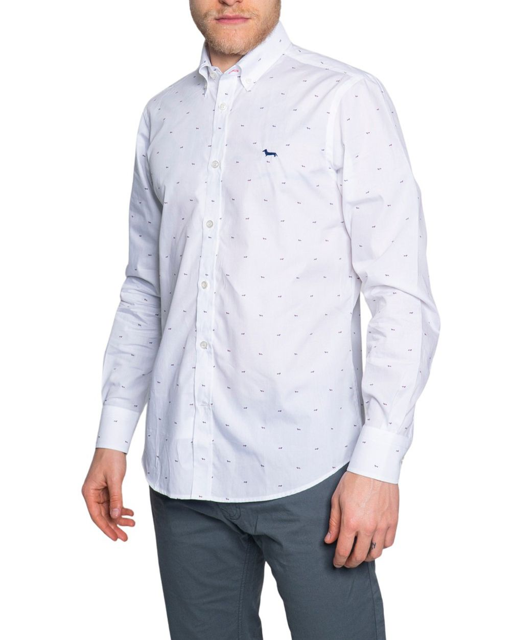 Harmont & Blaine HARMONT & BLAINE MEN'S CRF001011604WHITE WHITE COTTON SHIRT