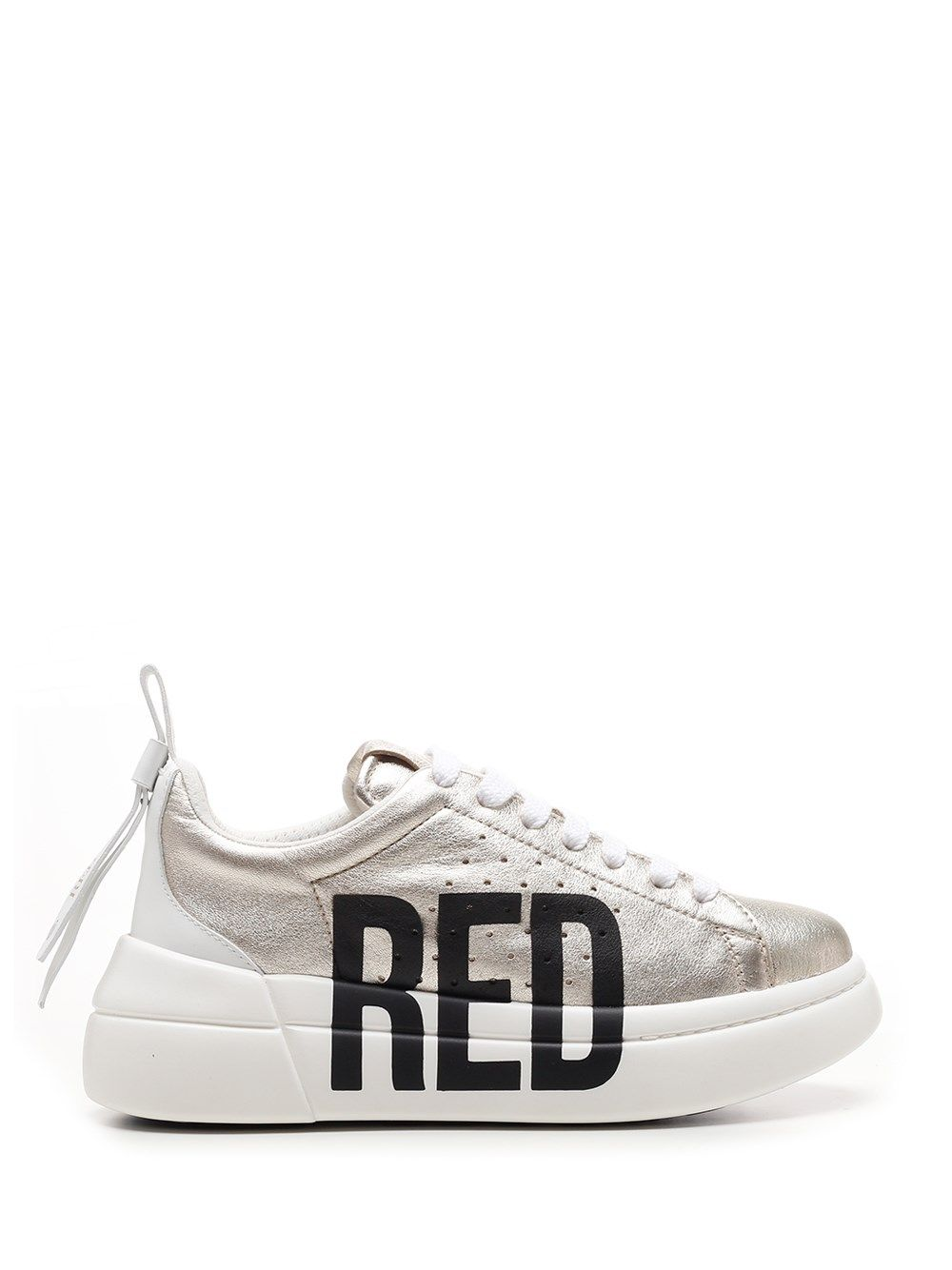 Red Valentino RED VALENTINO WOMEN'S VQ2S0E11TFHR16 WHITE OTHER MATERIALS SNEAKERS