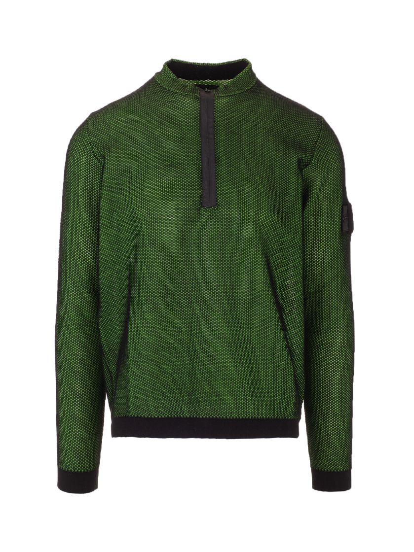 Stone Island STONE ISLAND MEN'S 7419507A3V0029 GREEN OTHER MATERIALS SWEATER