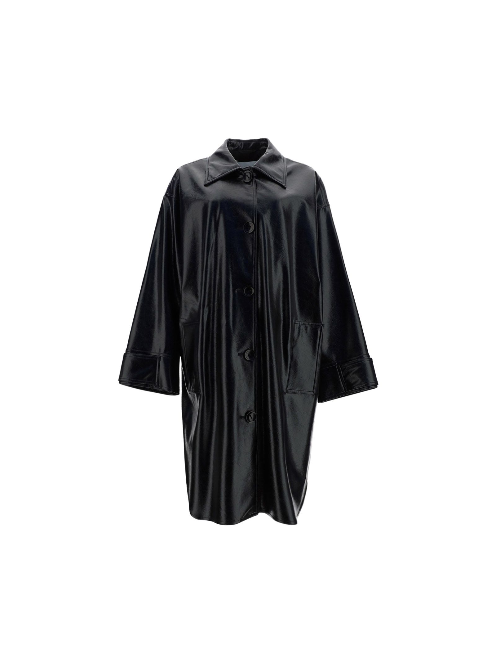 Stand Studio STAND WOMEN'S 61299822089900 BLACK OTHER MATERIALS COAT
