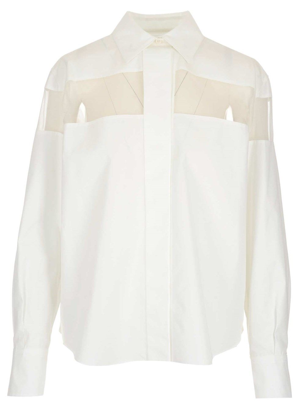 Valentino VALENTINO WOMEN'S VB3AB1V55DN0BO WHITE OTHER MATERIALS SHIRT