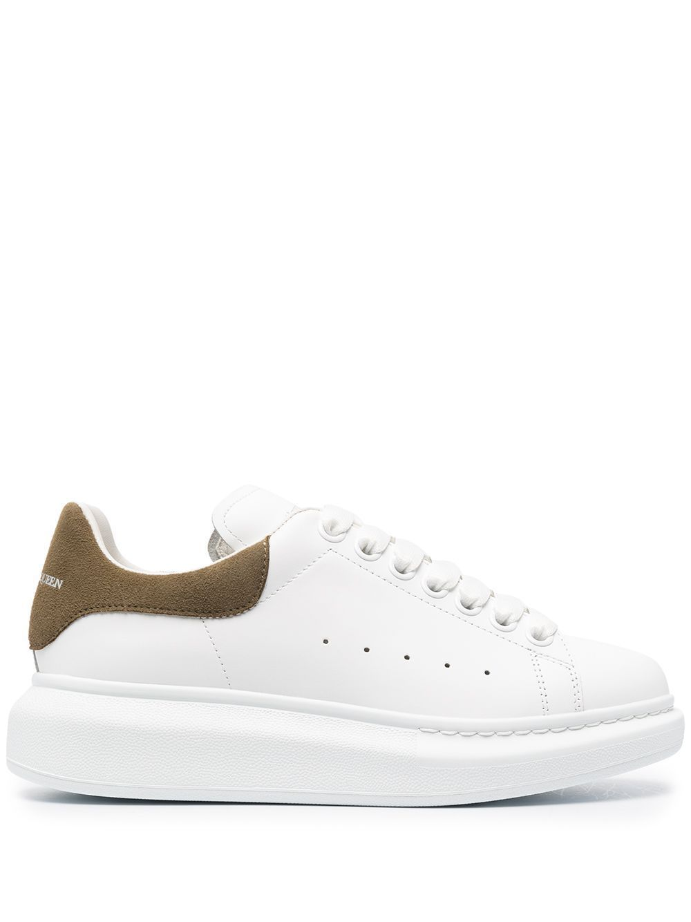 Alexander Mcqueen ALEXANDER MCQUEEN WOMEN'S WHITE LEATHER SNEAKERS