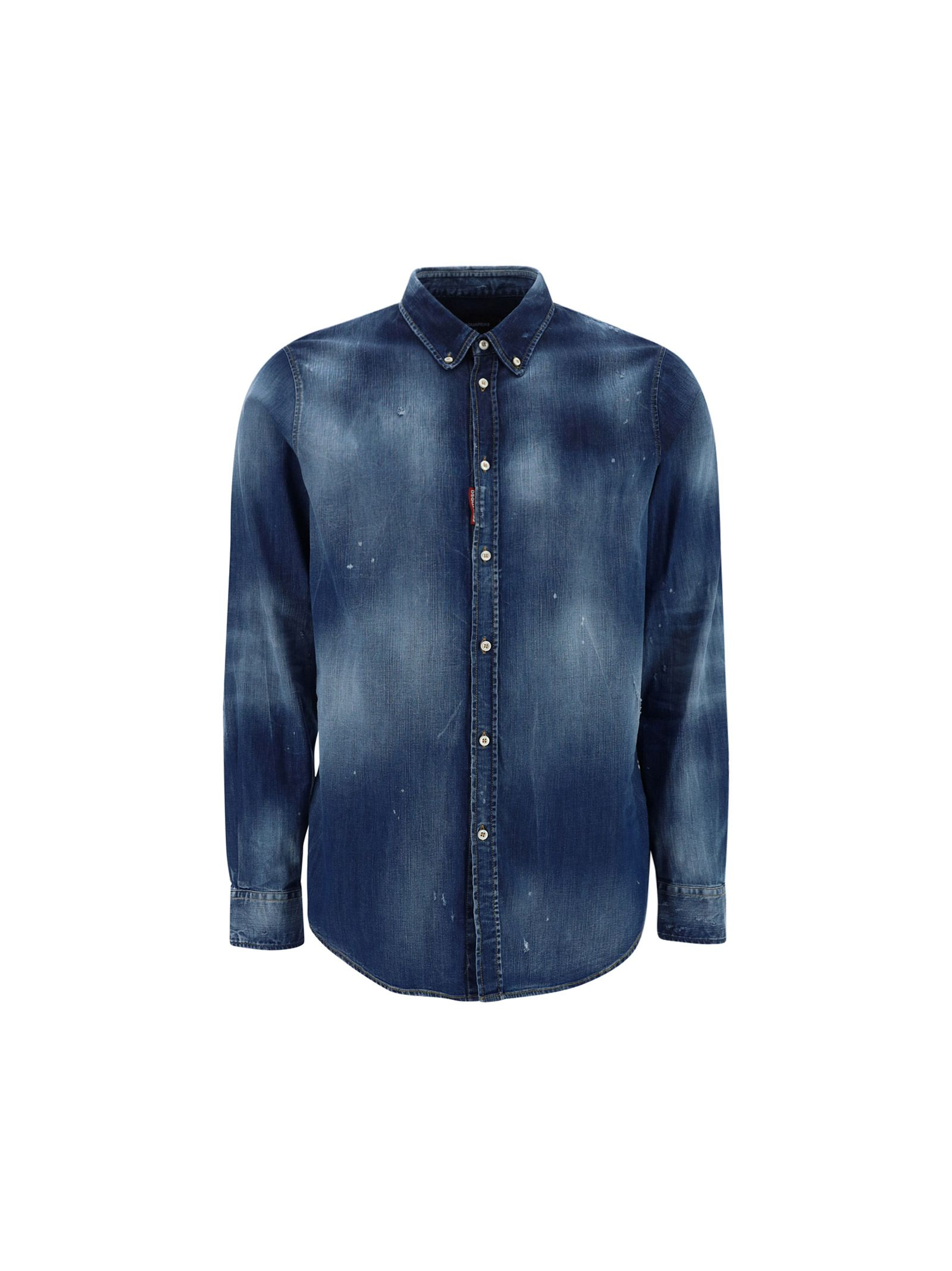 Dsquared2 DSQUARED2 MEN'S BLUE OTHER MATERIALS SHIRT