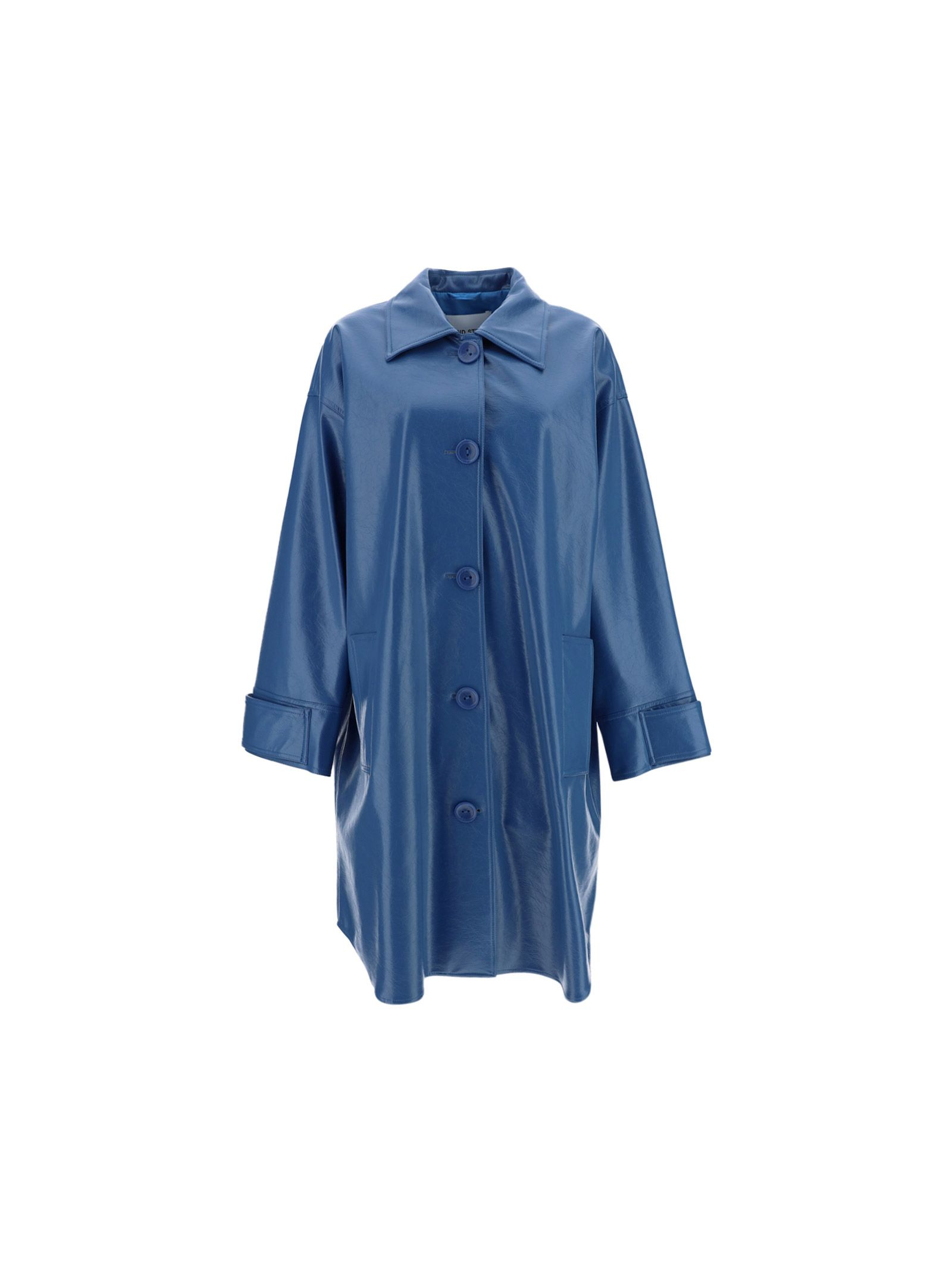 Stand Studio STAND WOMEN'S 61299822065000 BLUE OTHER MATERIALS COAT