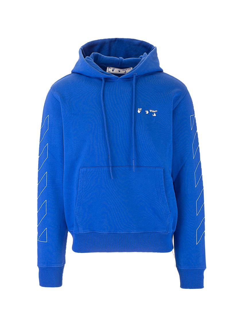 Off-White OFF-WHITE MEN'S OMBB034S21FLE0024501 BLUE OTHER MATERIALS SWEATSHIRT