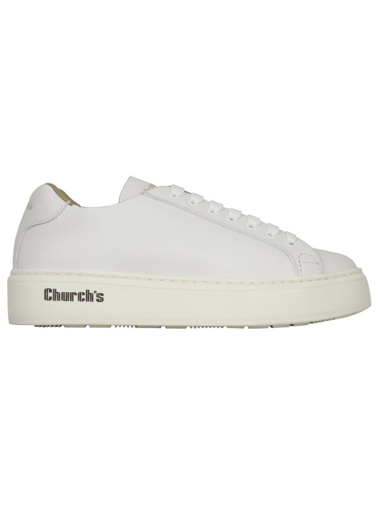 Church's Sneakers CHURCH'S MEN'S EEG0459ADJF0ABK WHITE OTHER MATERIALS SNEAKERS