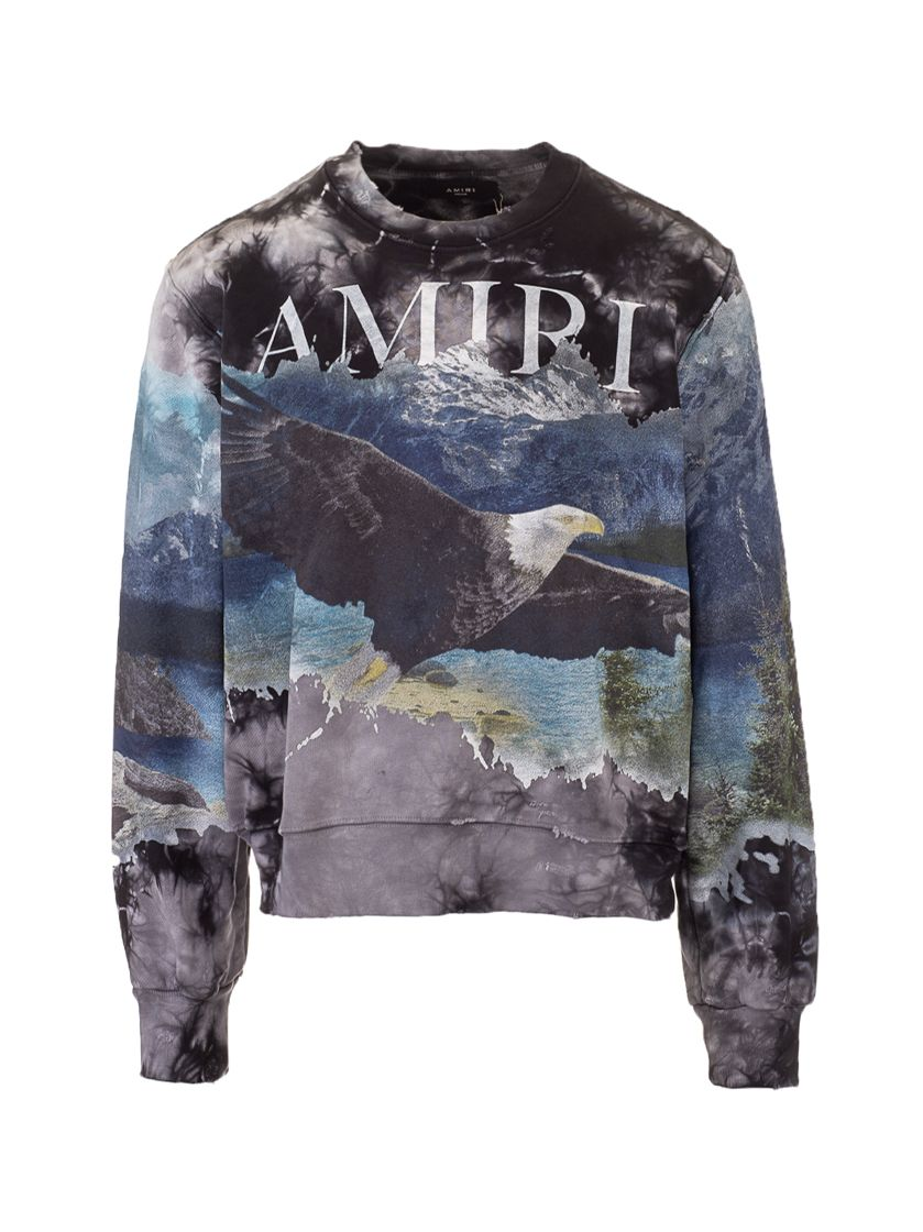 Amiri AMIRI MEN'S MJGC005001 BLACK OTHER MATERIALS SWEATSHIRT