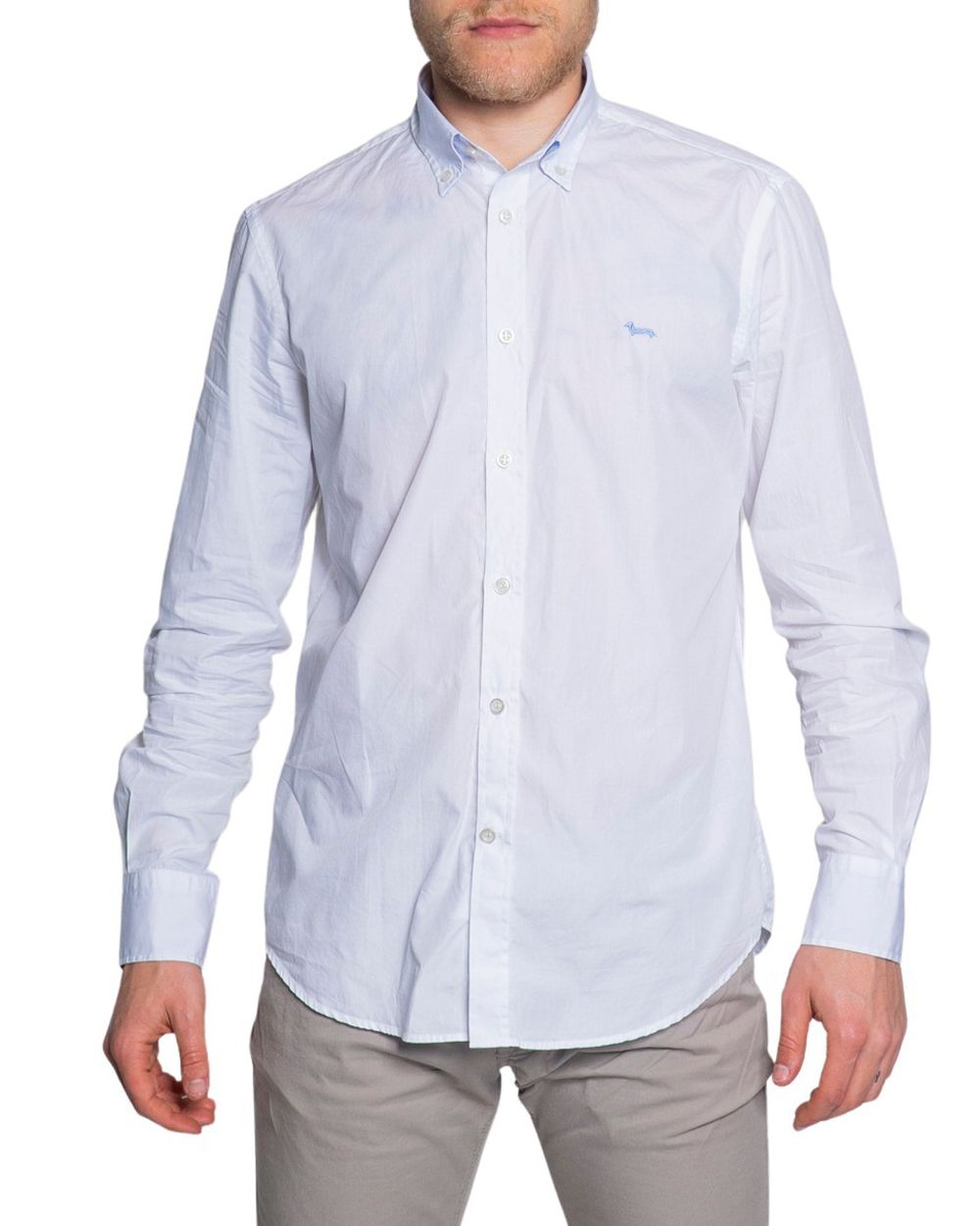 Harmont & Blaine HARMONT & BLAINE MEN'S CRF012006912WHITE WHITE COTTON SHIRT