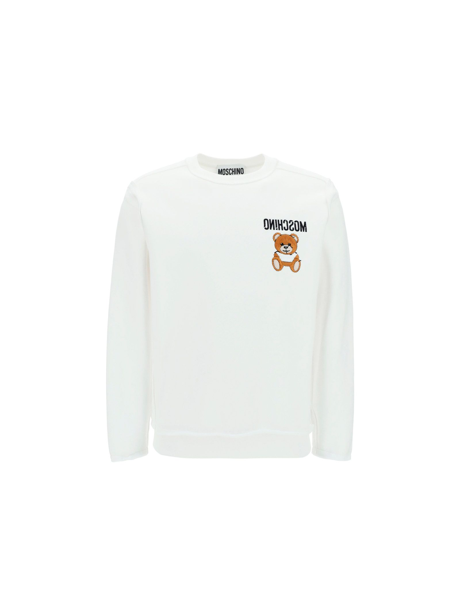 Moschino Cottons MOSCHINO MEN'S 17742271001 WHITE OTHER MATERIALS SWEATSHIRT