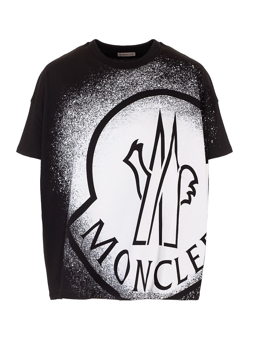 Moncler MONCLER WOMEN'S 8C7B310829FB088 BLACK OTHER MATERIALS T-SHIRT
