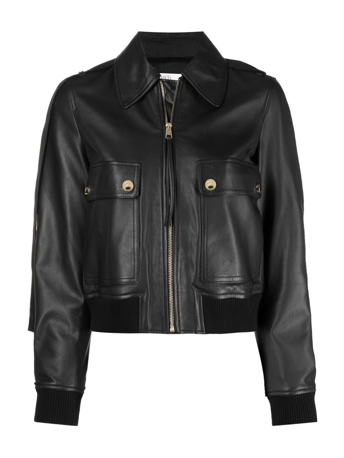 Red Valentino Leathers LEATHER JACKET NAPPA AGNELLO