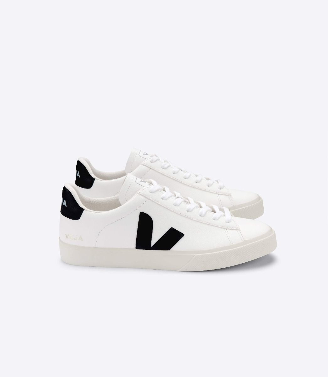 Veja Leathers CAMPO TRAINERS - CHROMEFREE EXTRA WHITE/BLACK