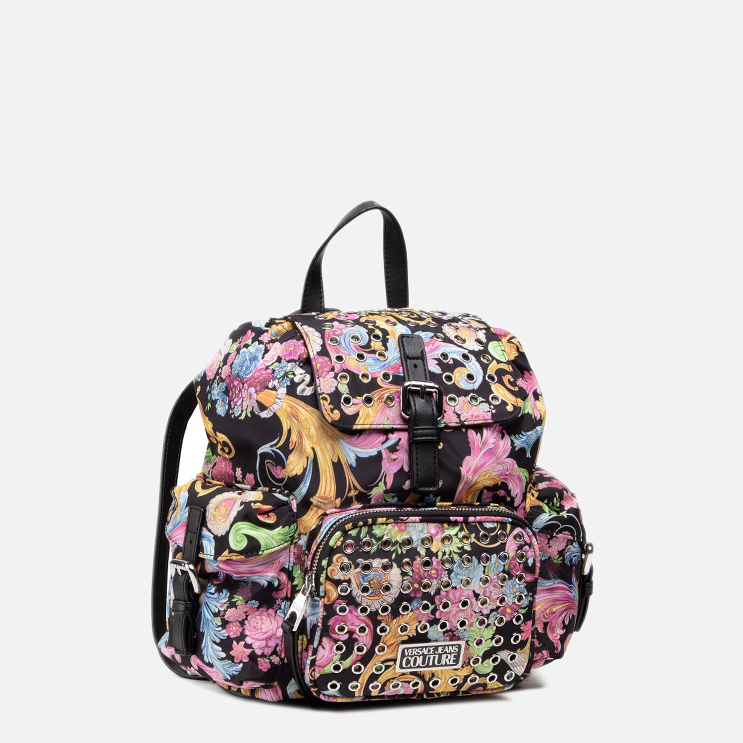 Versace Jeans Couture Backpacks BACKPACK BAG WITH COLORED BAROQUE FANTASY