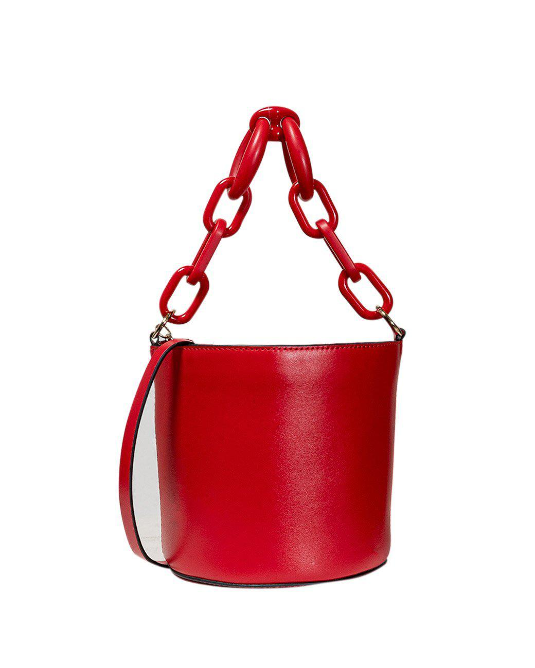 Red Valentino BUCKET BAG WITH RESIN CHAIN HANDLE