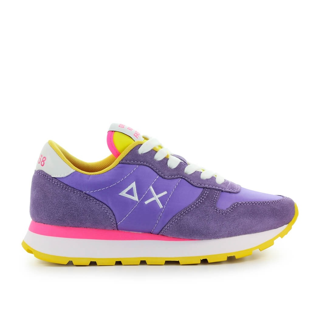 Sun68 Suedes SUN68 ALLY SOLID NYLON LILAC YELLOW SNEAKER