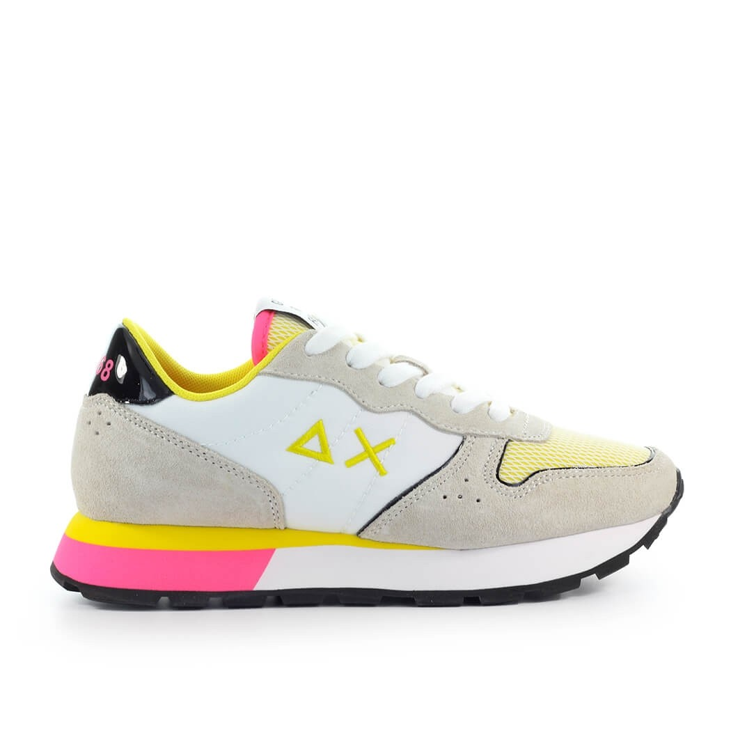 Sun68 SUN68 ALLY SPORTY WHITE YELLOW SNEAKER