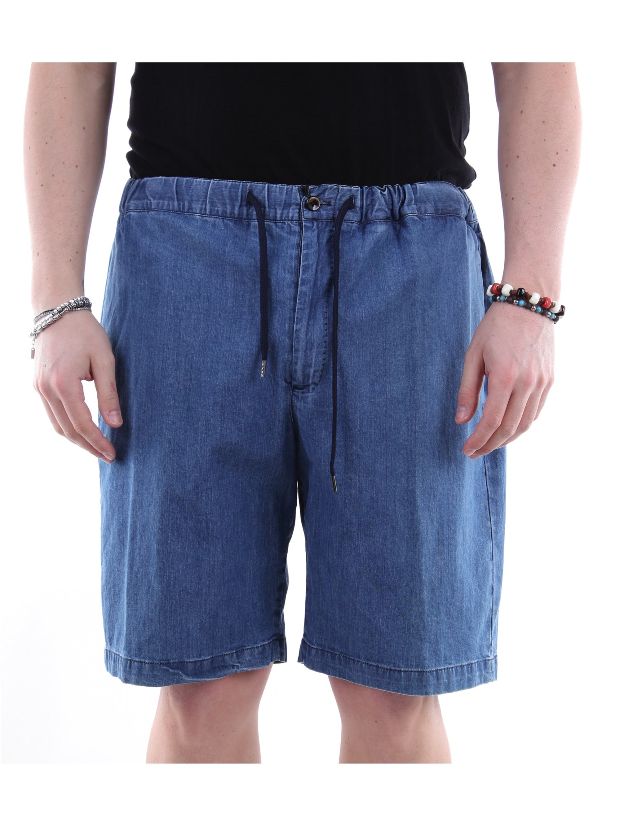 Pt Torino Chambray Shorts In Blue