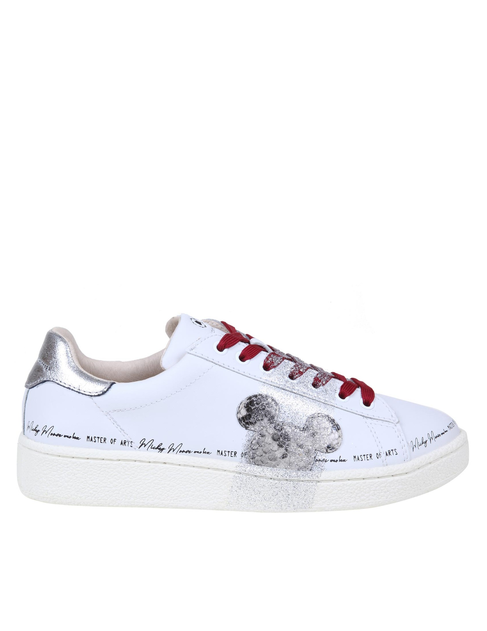 Moa Master Of Arts Leathers MOA SNEAKERS IN LEATHER WITH GLITTER DETAIL