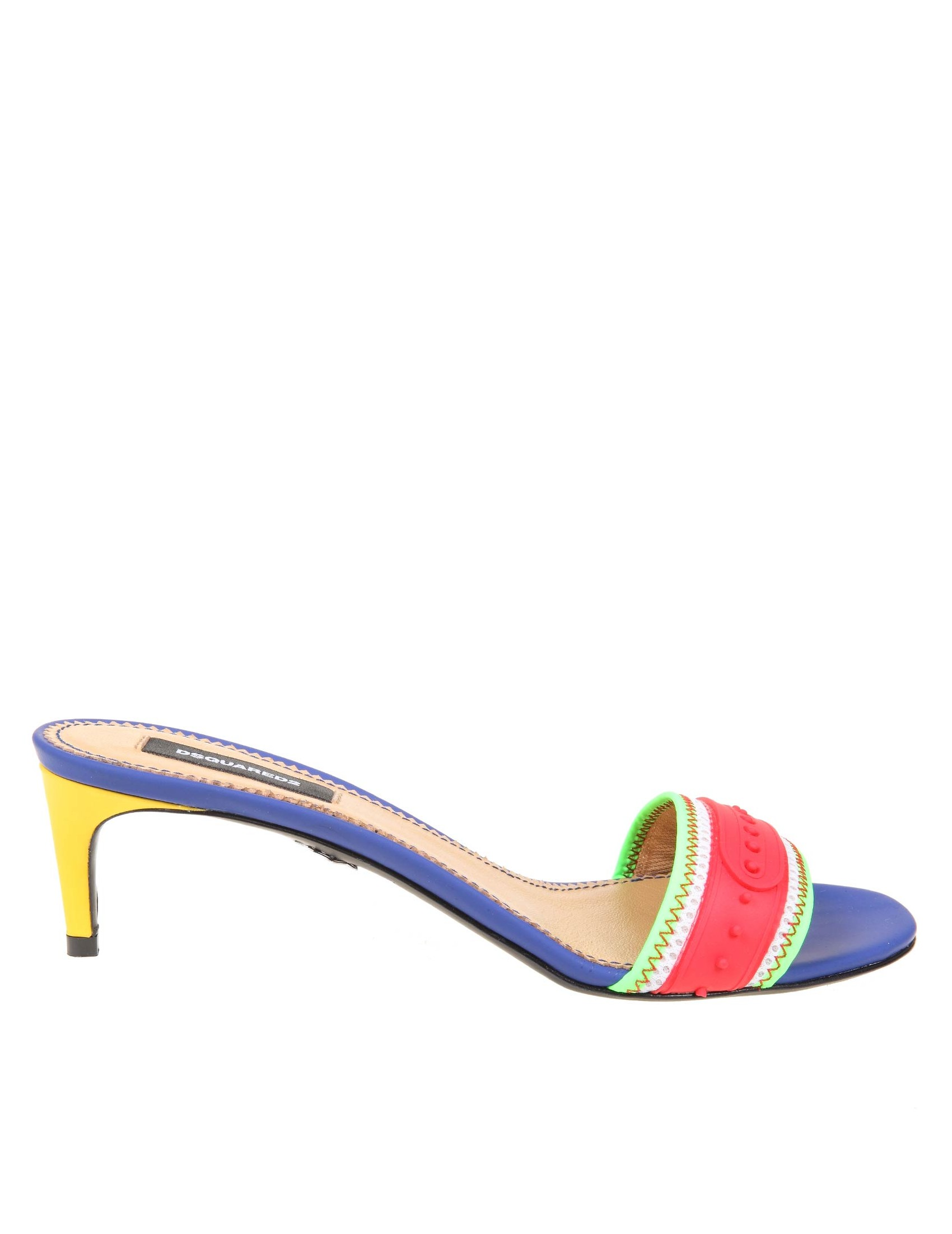 Dsquared2 DSQUARED2 MULES SNAP IN MULTICOLOR FABRIC