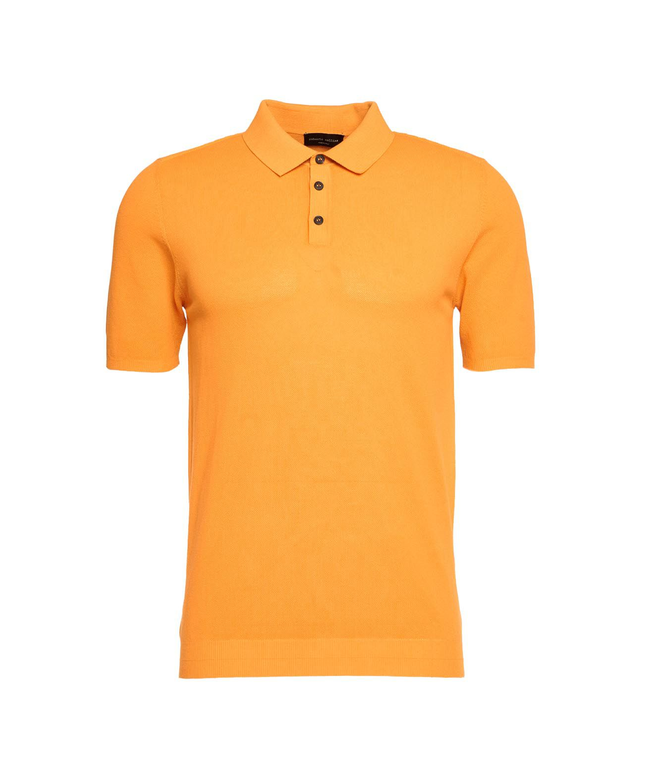 Roberto Collina Knits POLO WITH STRUCTURE
