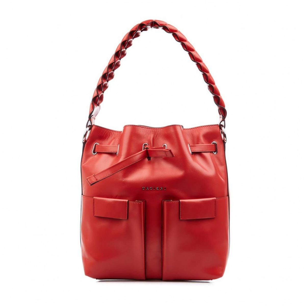 Orciani Leathers SHOULDER BAG RED LEATHER