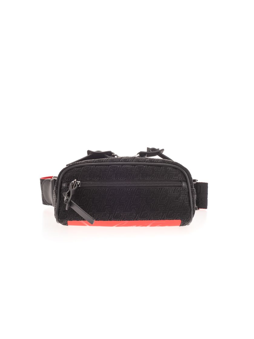 Christian Louboutin CHRISTIAN LOUBOUTIN MEN'S 1215213B260 BLACK POLYAMIDE BELT BAG