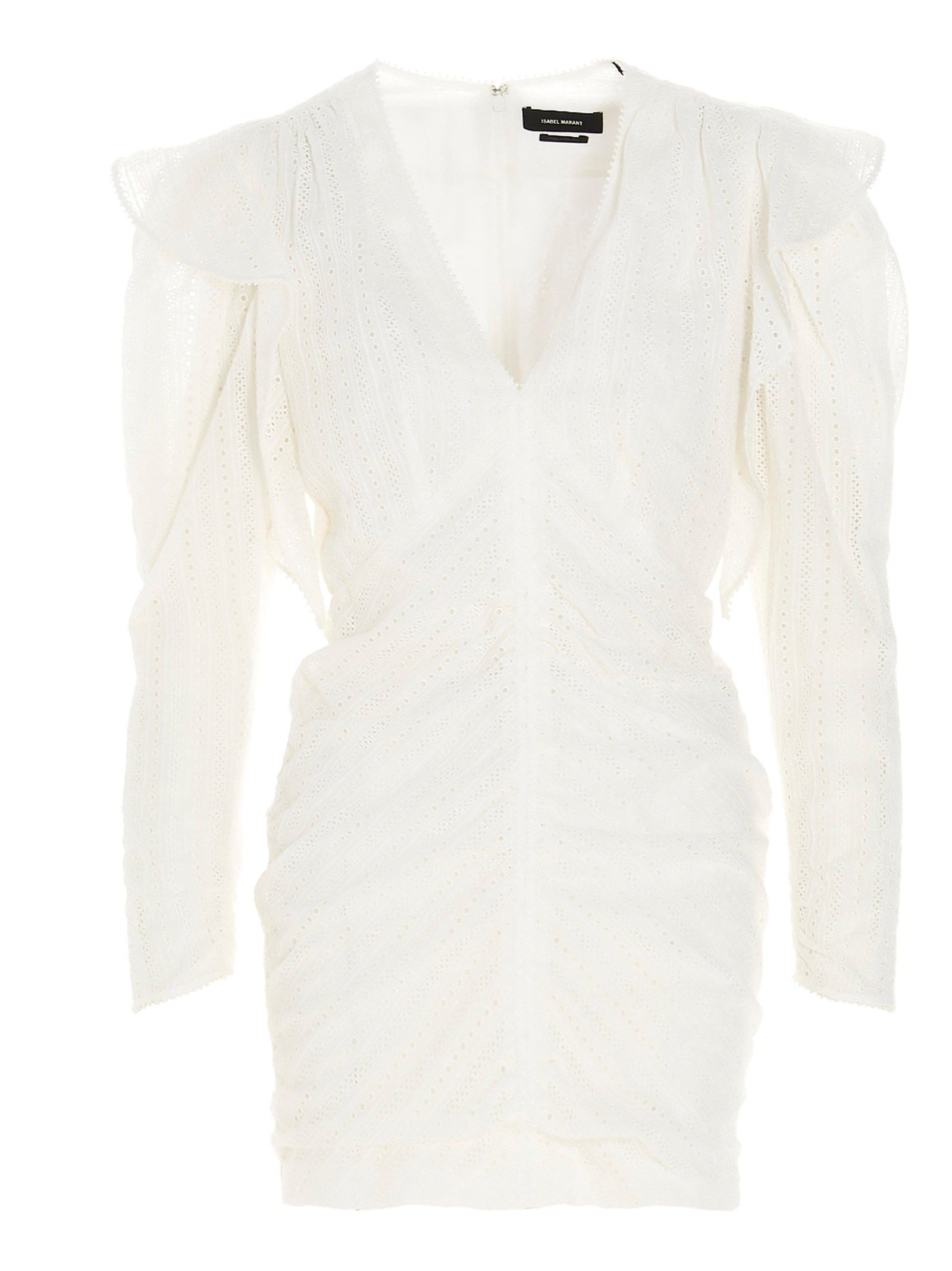 Isabel Marant ISABEL MARANT WOMEN'S RO191921P024I20WH WHITE OTHER MATERIALS DRESS