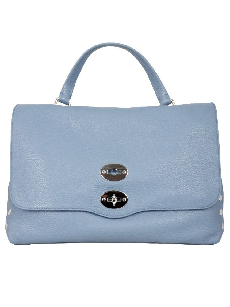 Zanellato ZANELLATO WOMEN'S 61311835 LIGHT BLUE LEATHER HANDBAG