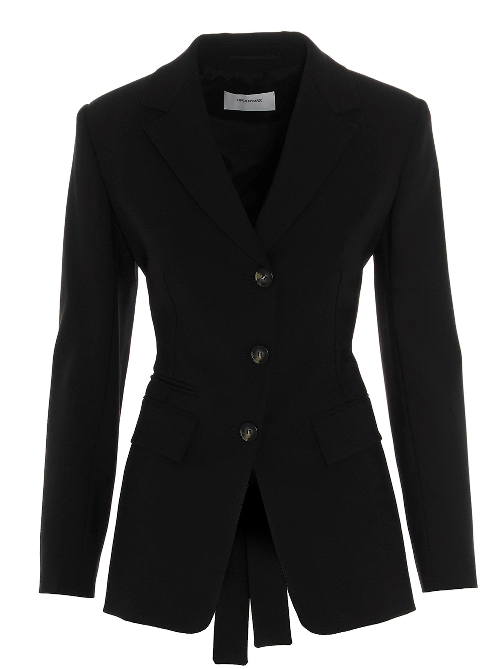 Sportmax SPORTMAX WOMEN'S 20410117600278002 BLACK OTHER MATERIALS BLAZER