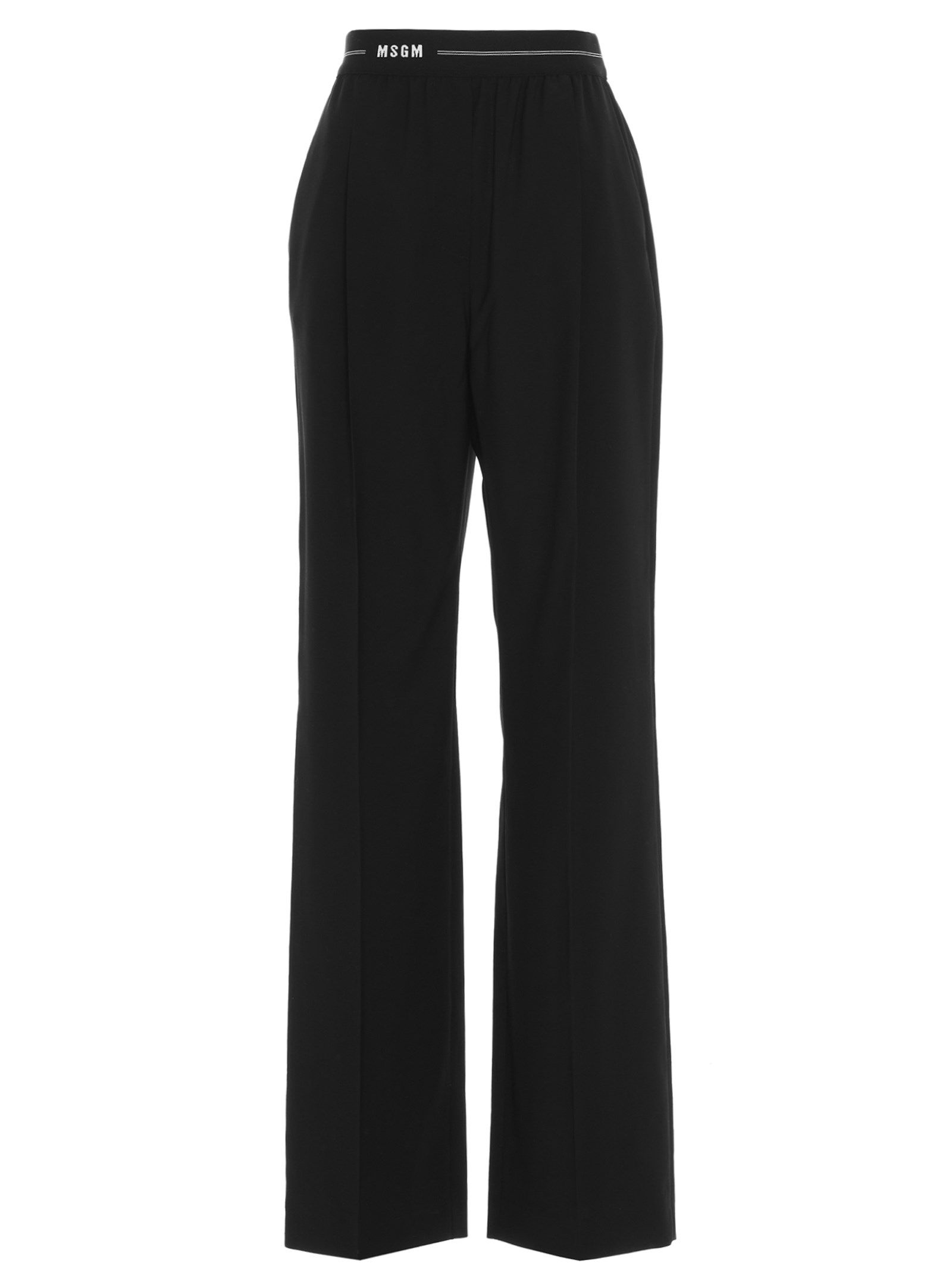Msgm Pants WOMEN'S 3041MDP1221711399 BLACK OTHER MATERIALS PANTS