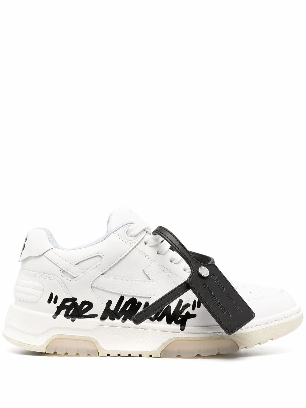 Off-White Leathers OFF-WHITE WOMEN'S OWIA259S21LEA0020140 WHITE LEATHER SNEAKERS