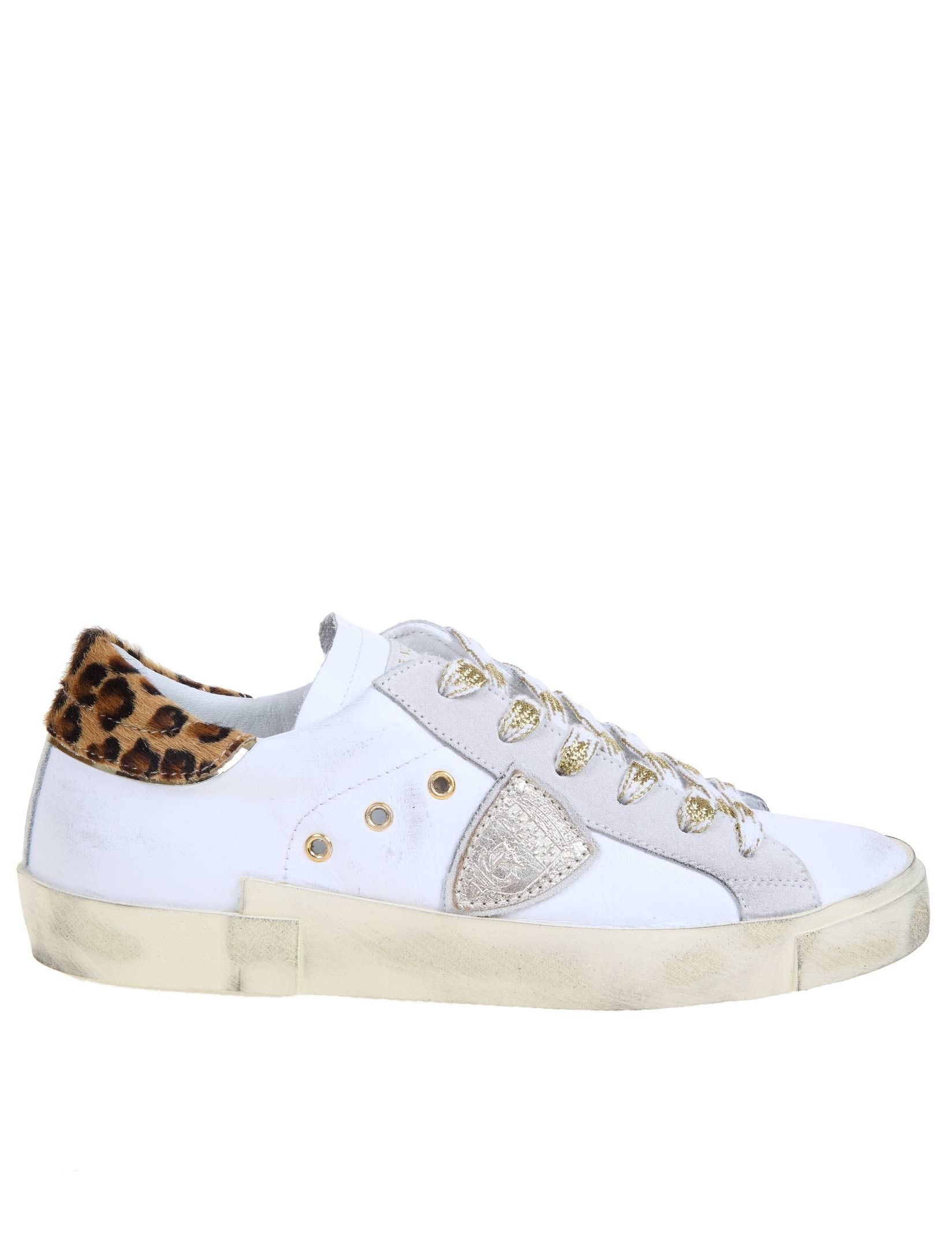 Philippe Model PHILIPPE MODEL WOMEN'S PRLDVL03 WHITE LEATHER SNEAKERS