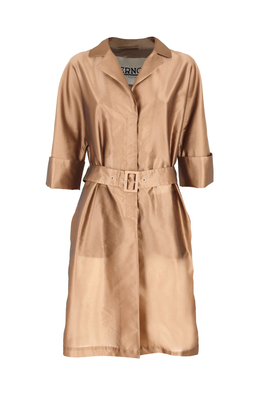 Herno HERNO WOMEN'S CA0391D123718160 BEIGE POLYESTER TRENCH COAT