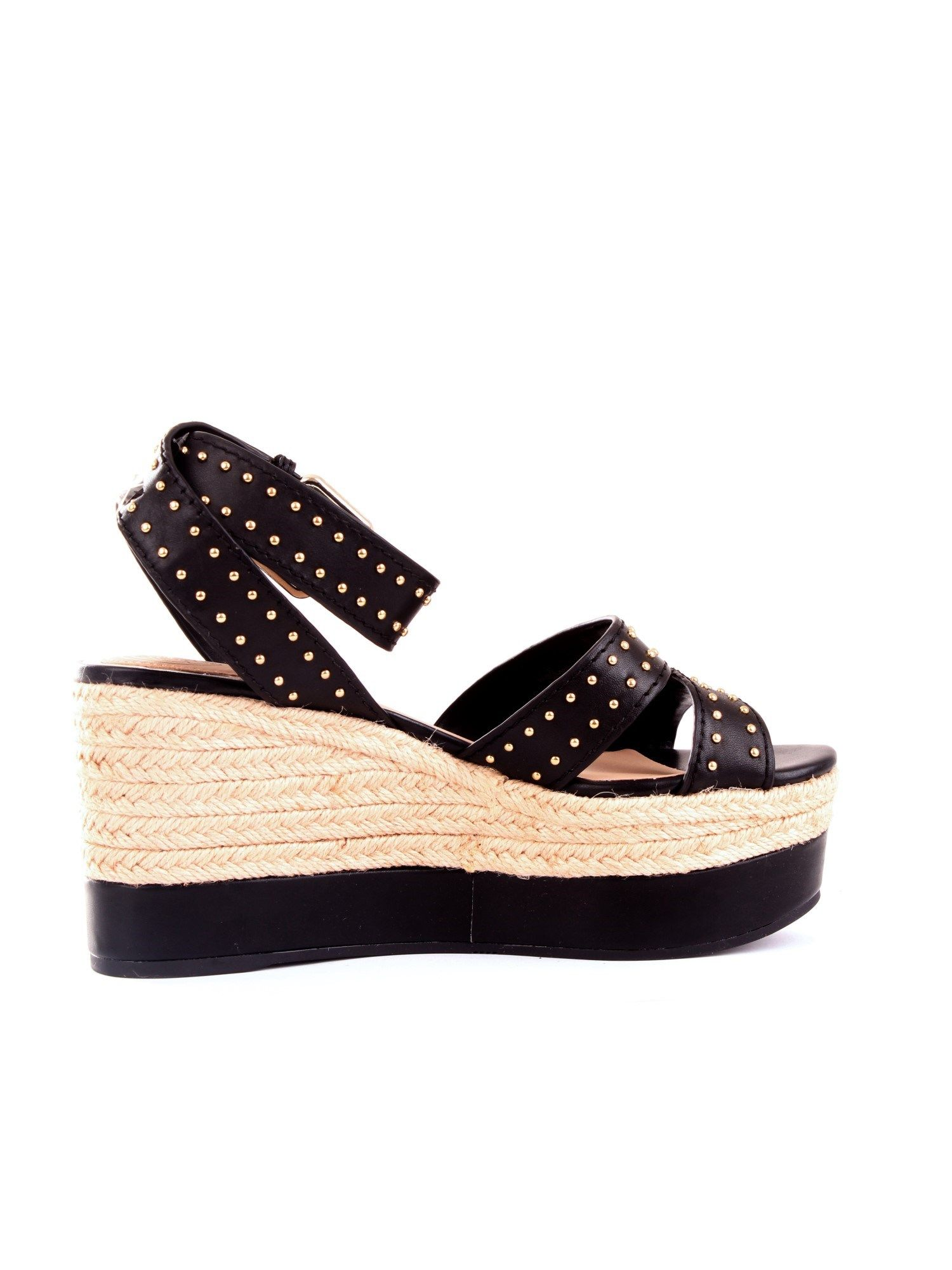 Guess GUESS WOMEN'S FL6LAELEA04BLACK BLACK SYNTHETIC FIBERS WEDGES