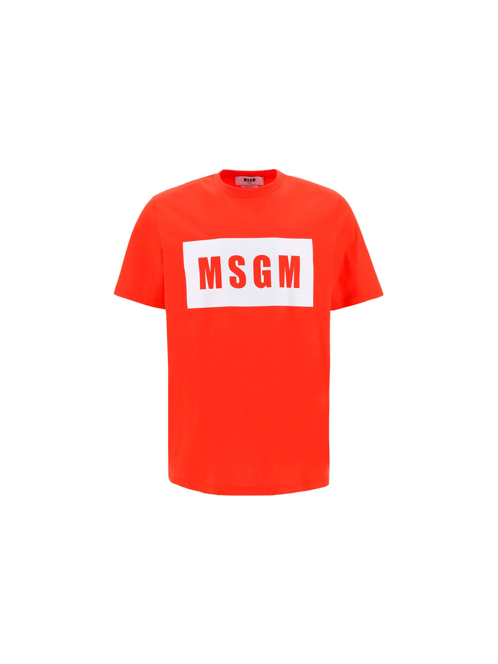Msgm MEN'S 3040MM6721709819 RED OTHER MATERIALS T-SHIRT
