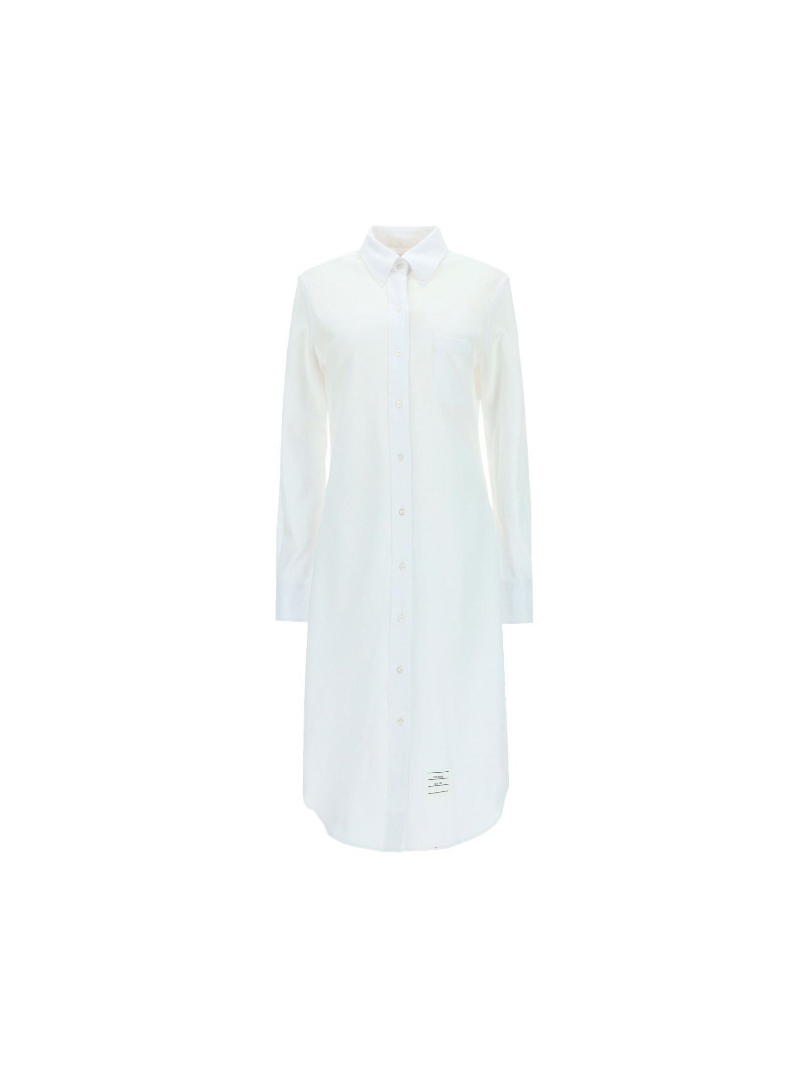 Thom Browne THOM BROWNE WOMEN'S FDS001A00050100 WHITE OTHER MATERIALS DRESS