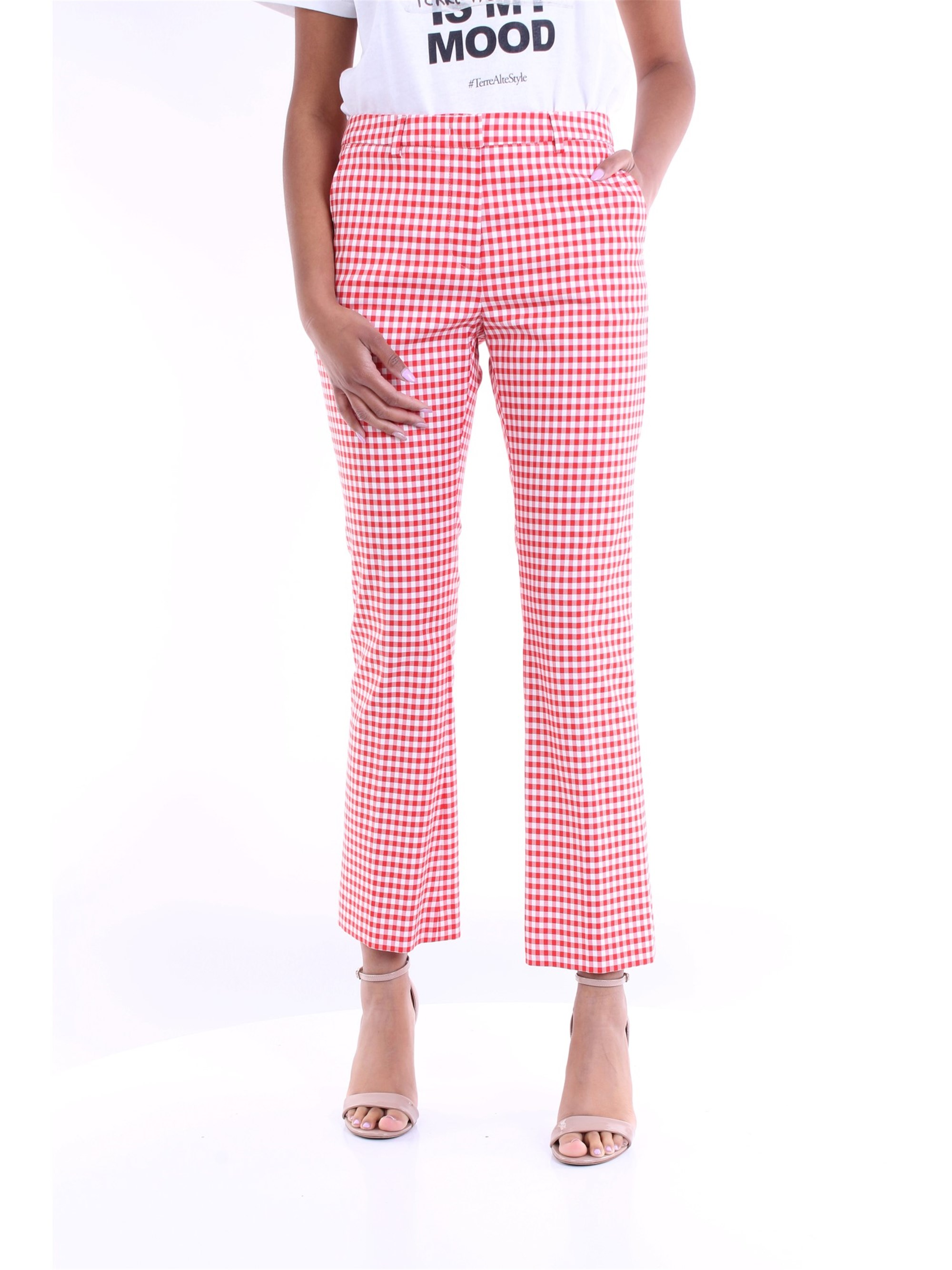 Pt Torino PT TORINO TROUSERS PAW WOMEN WHITE AND RED