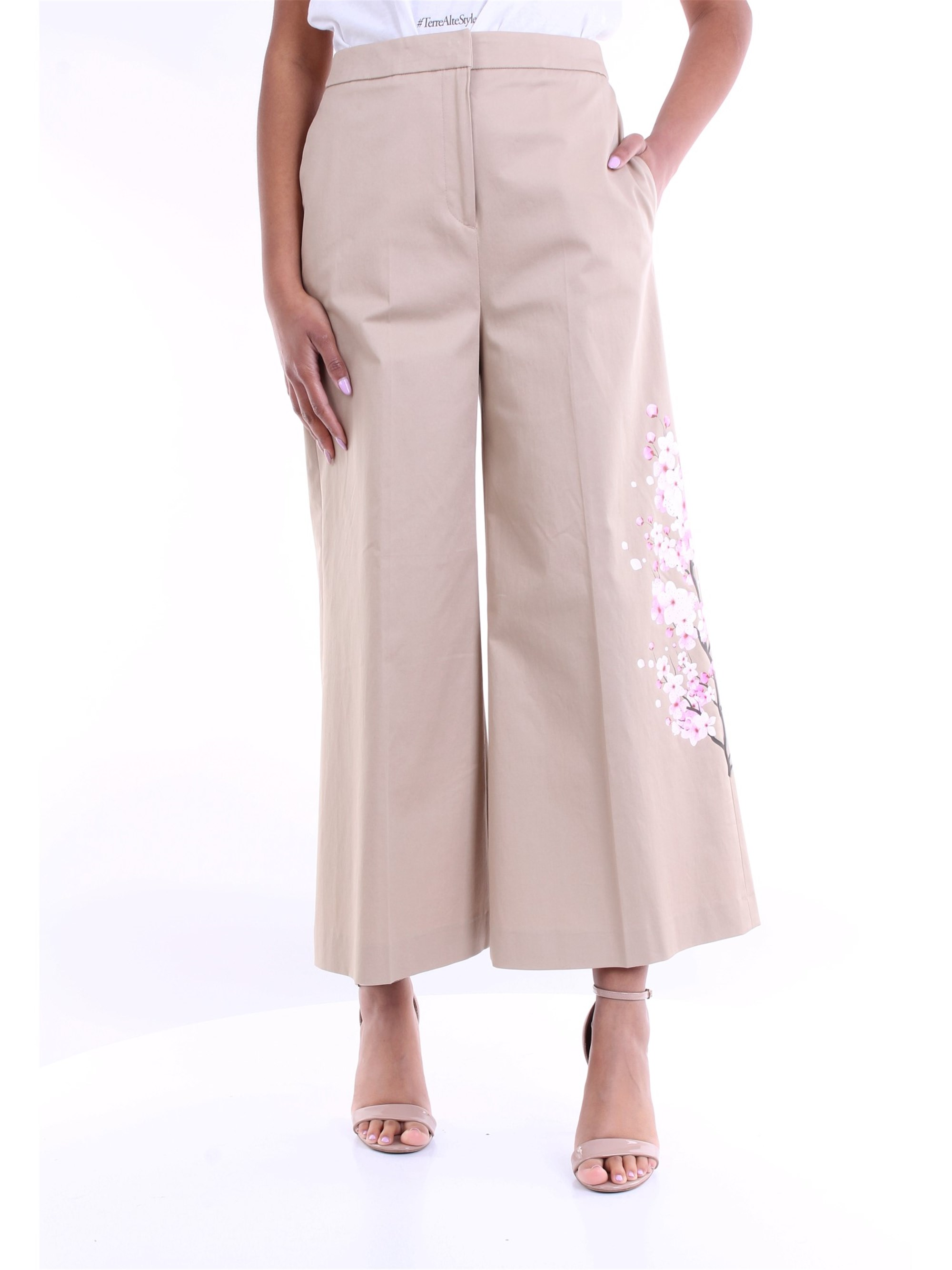 Pt Torino PT TORINO TROUSERS CROPPED WOMEN SAND