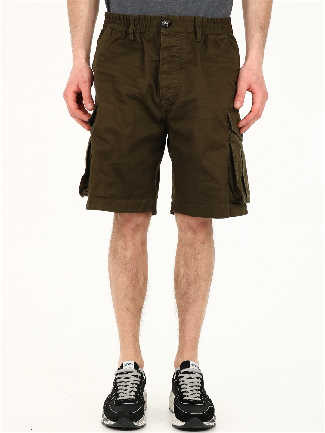 Dsquared2 Shorts GREEN COTTON CARGO
