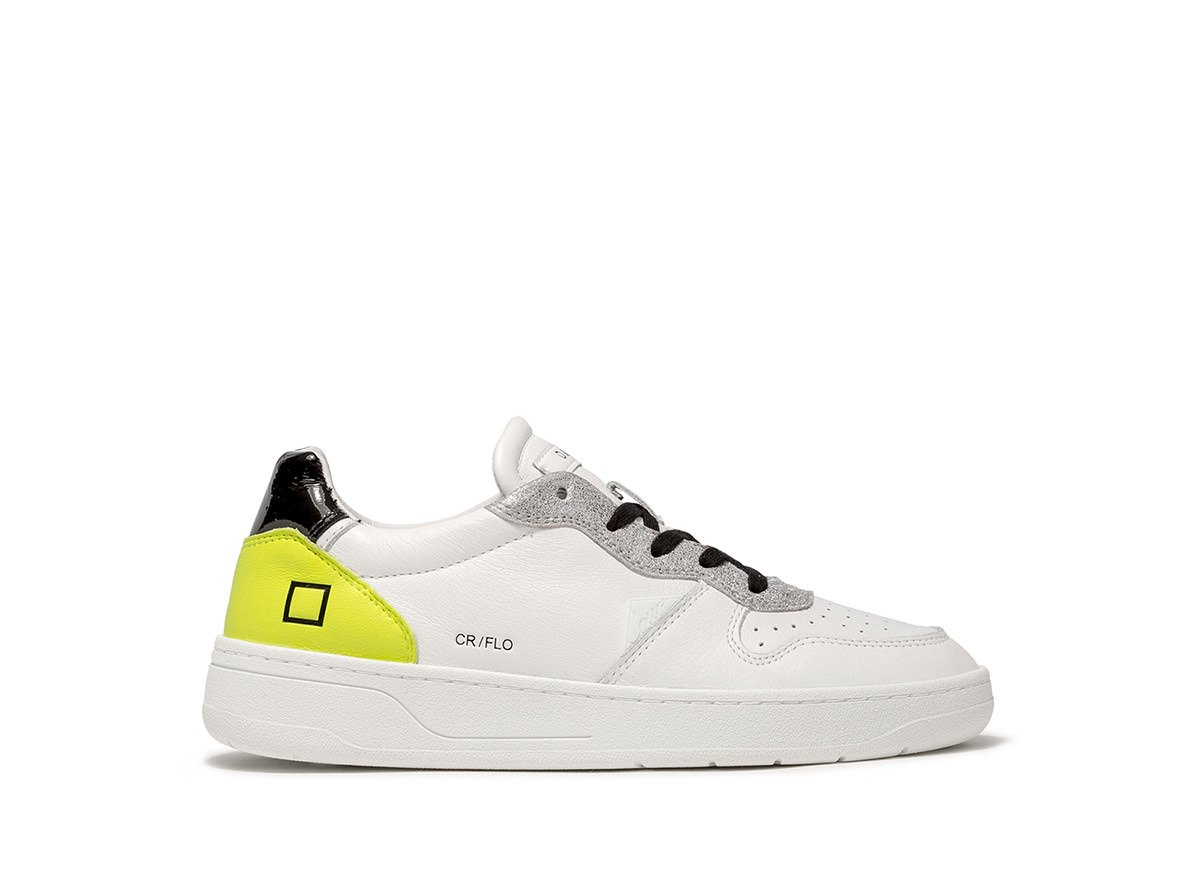 D.a.t.e. D.A.T.E SNEAKERS - COURT FLUO WHITE-YELLOW