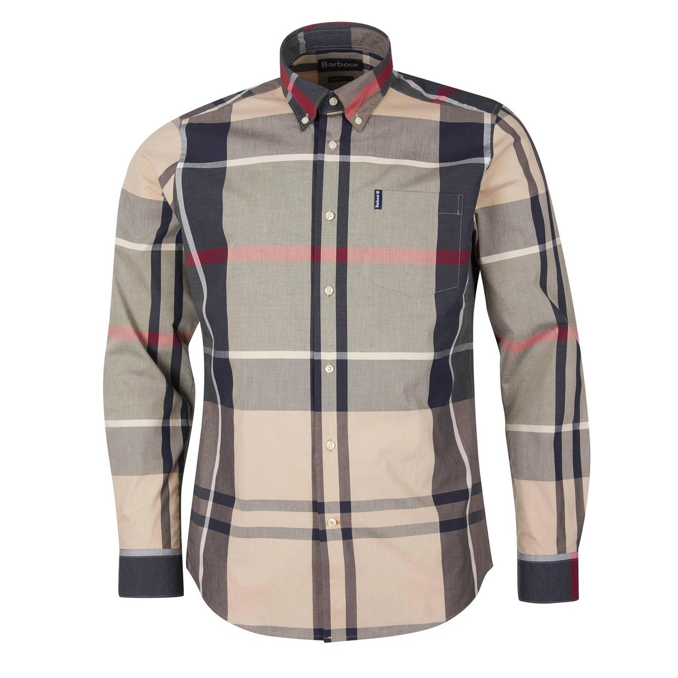 Barbour Downs TARTAN 12 TAILORED FIT SHIRT STONE
