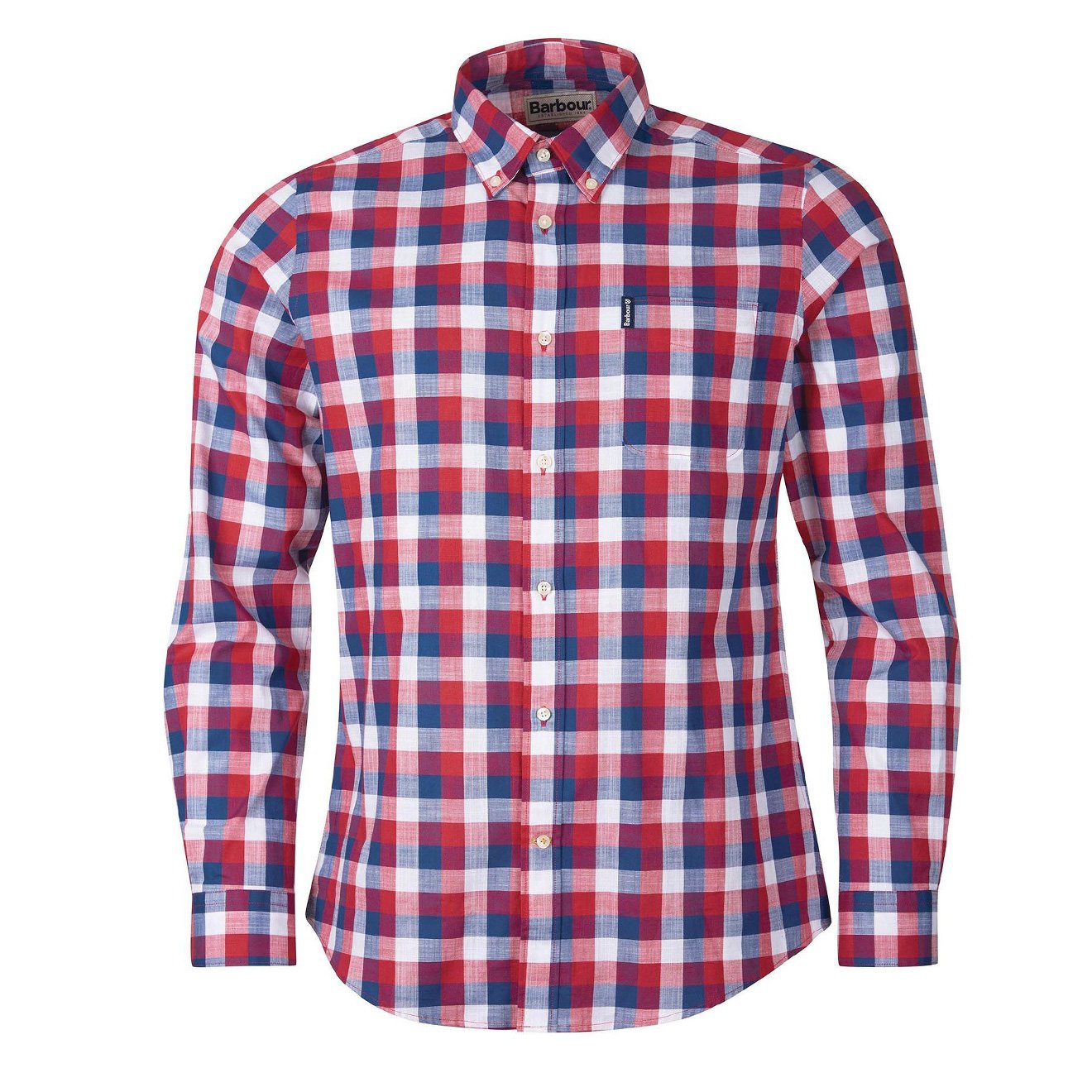 Barbour Shirts GINGHAM 25 TAILORED L/S SHIRT RED