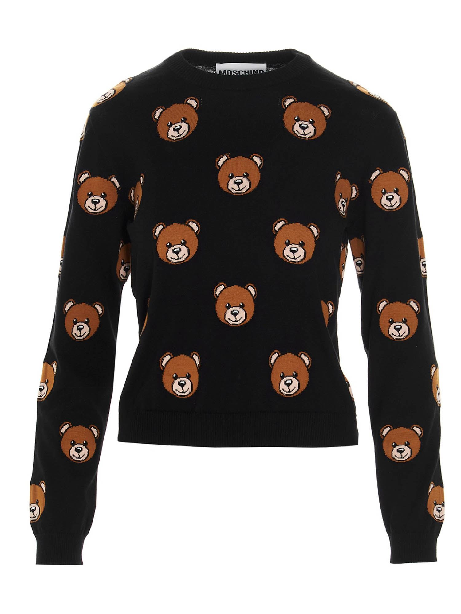 Moschino Cottons ALL OVER BEAR JUMPER
