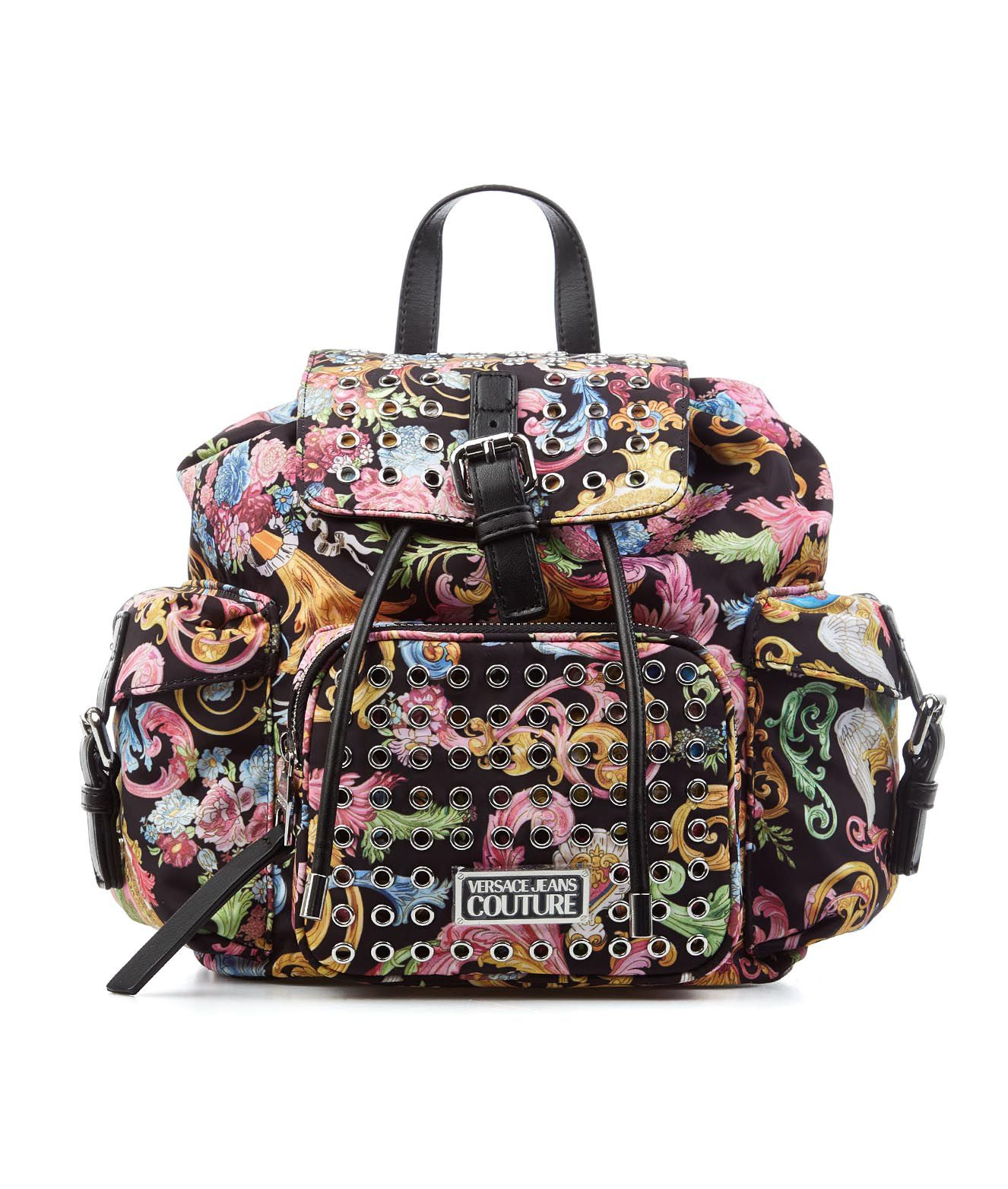 Versace VERSACE BACKPACK WITH BAROUQUE PRINT