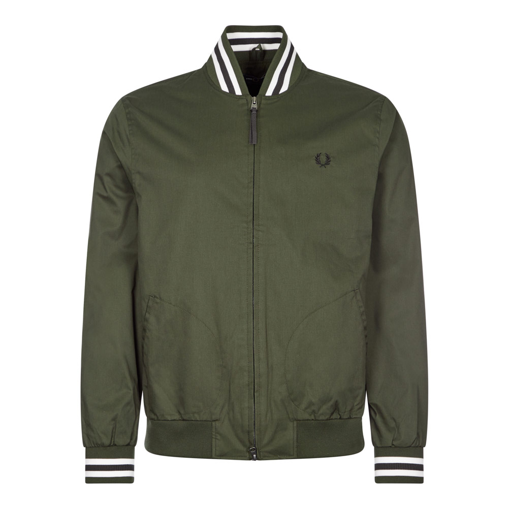 Fred Perry BOMBER JACKET TENNIS - HUNTING GREEN